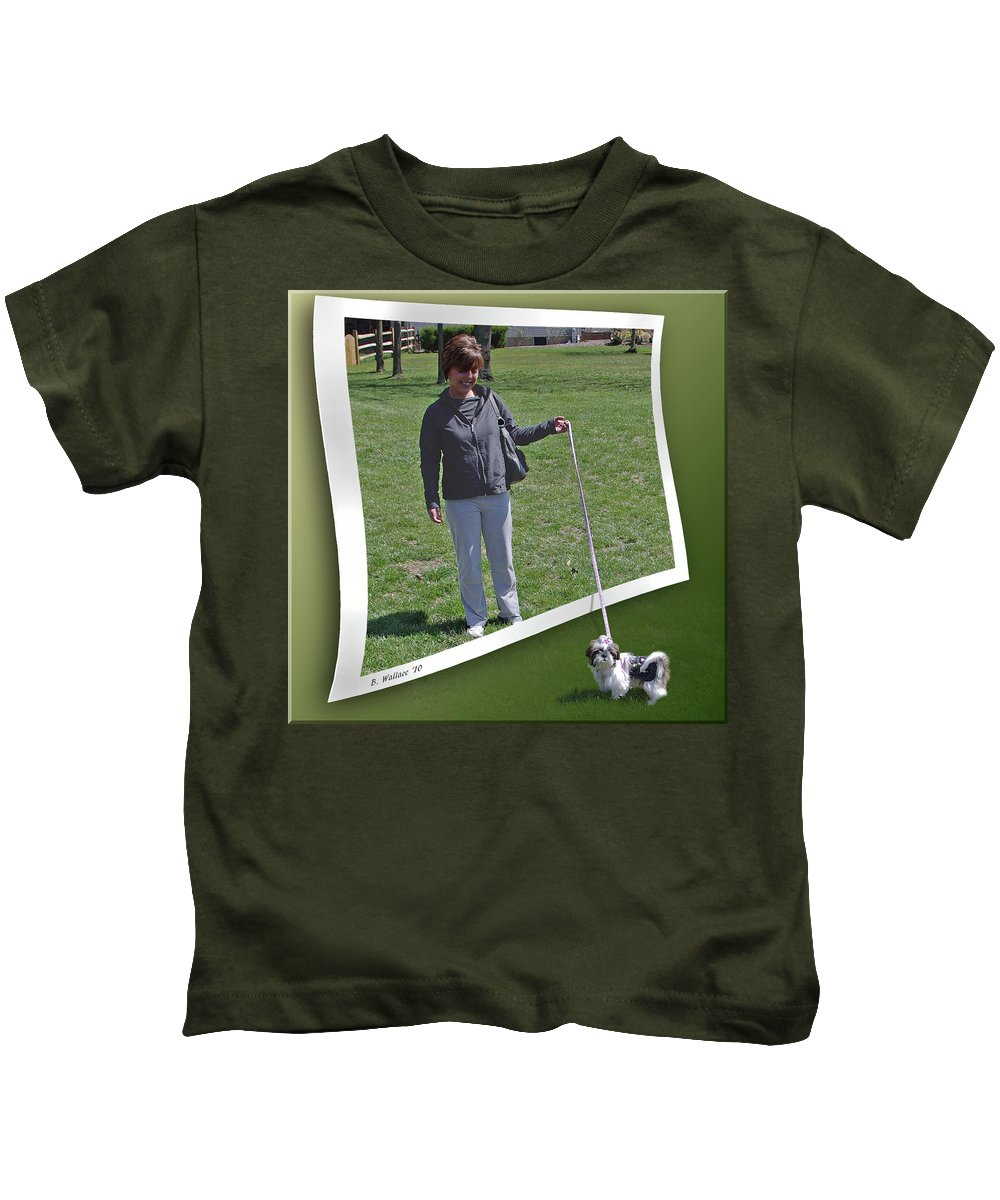 2d Kids T-Shirt featuring the photograph Not While You Watch by Brian Wallace