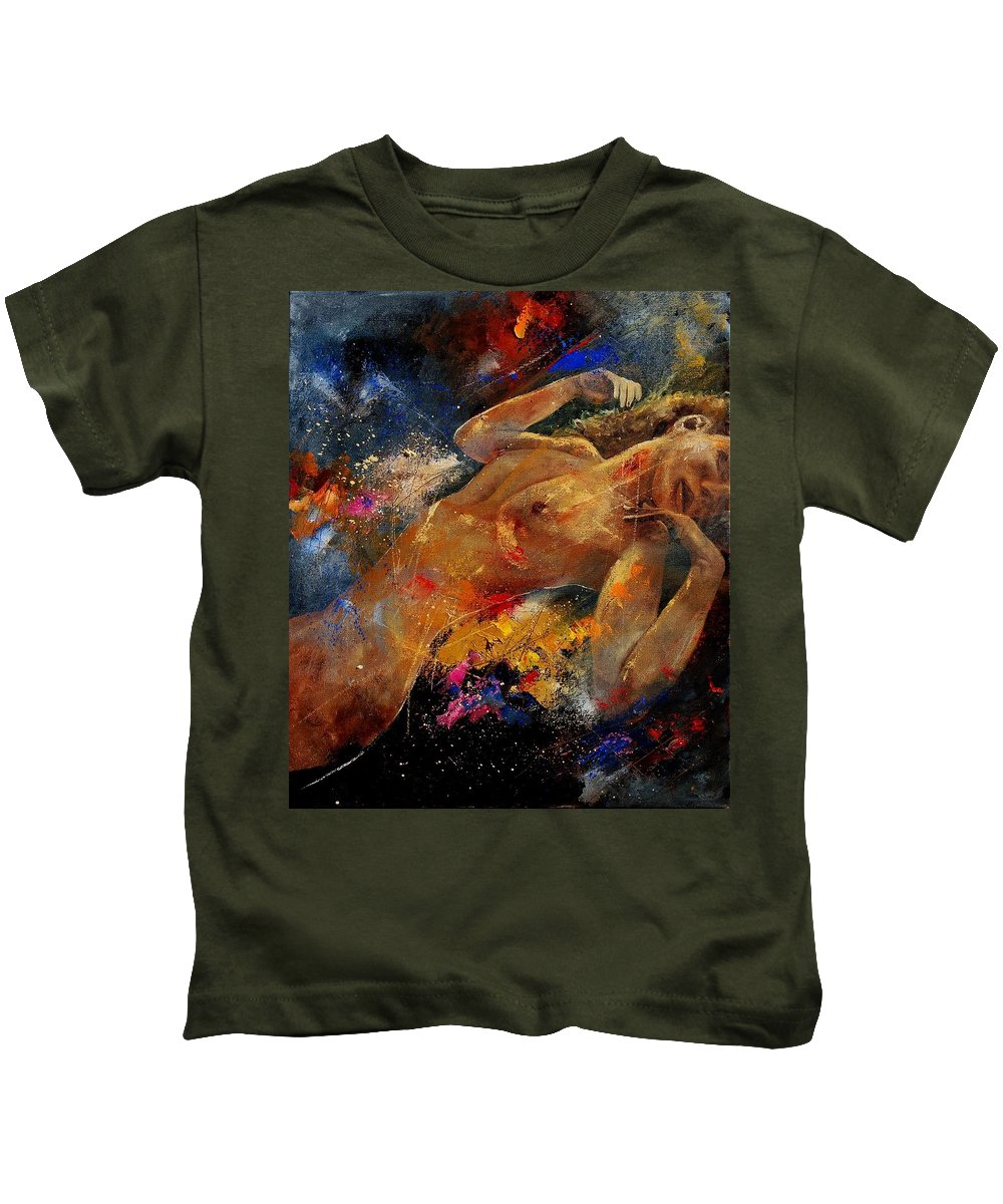 Nude Kids T-Shirt featuring the painting Nude 0604 by Pol Ledent