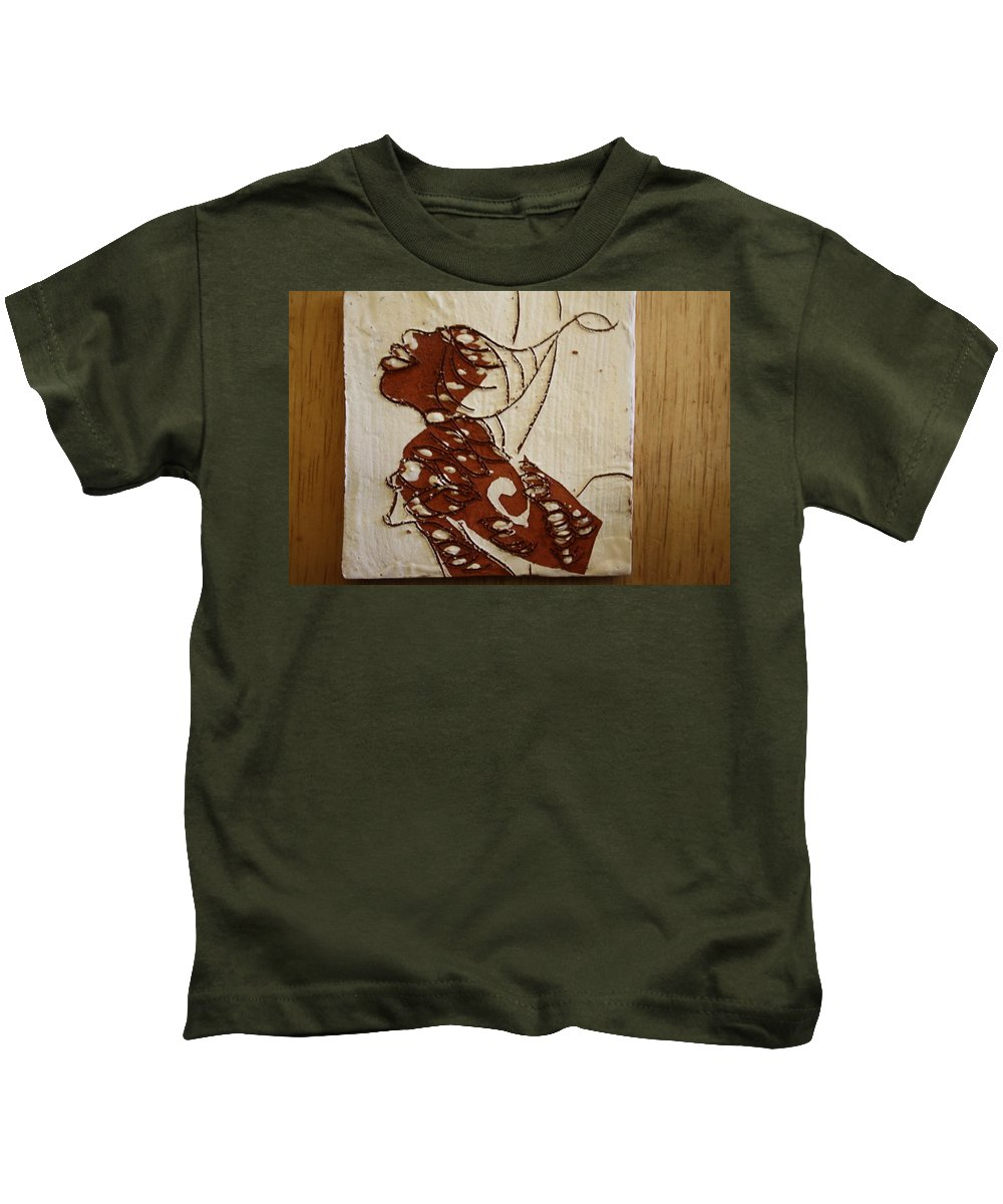 Jesus Kids T-Shirt featuring the ceramic art Nude 12 - Tile by Gloria Ssali
