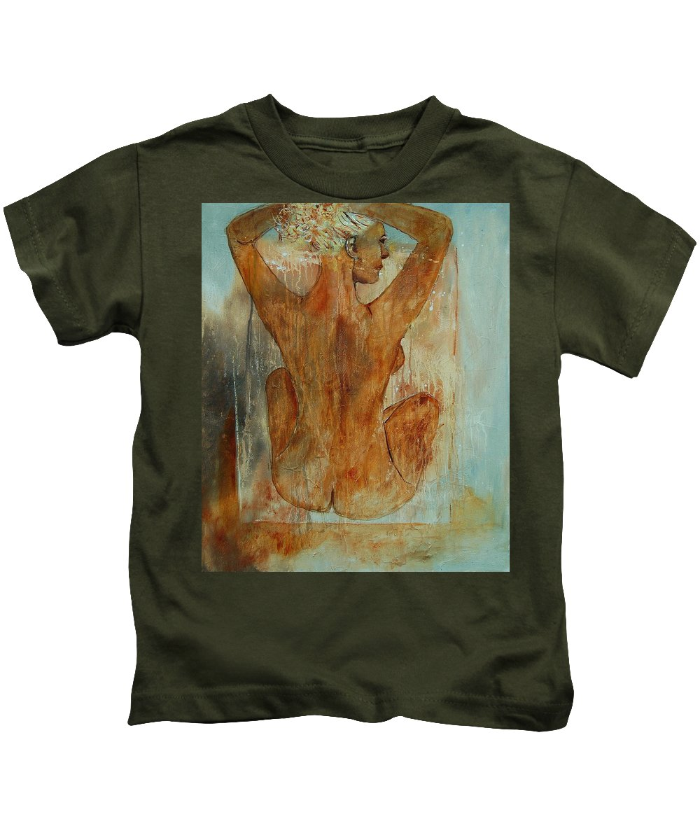 Nude Kids T-Shirt featuring the painting Nude 56901101 by Pol Ledent
