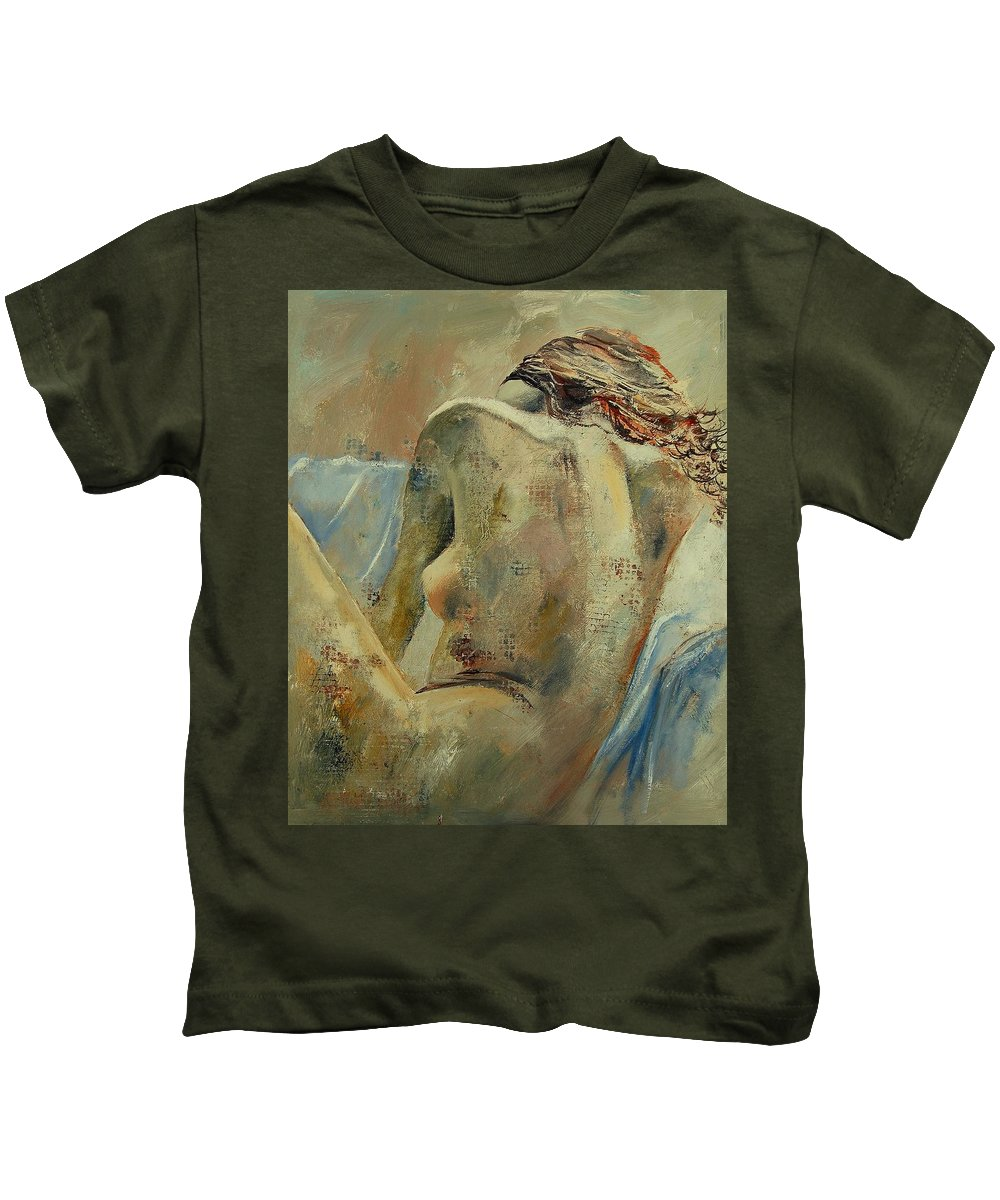 Kids T-Shirt featuring the painting Nude 56905092 by Pol Ledent