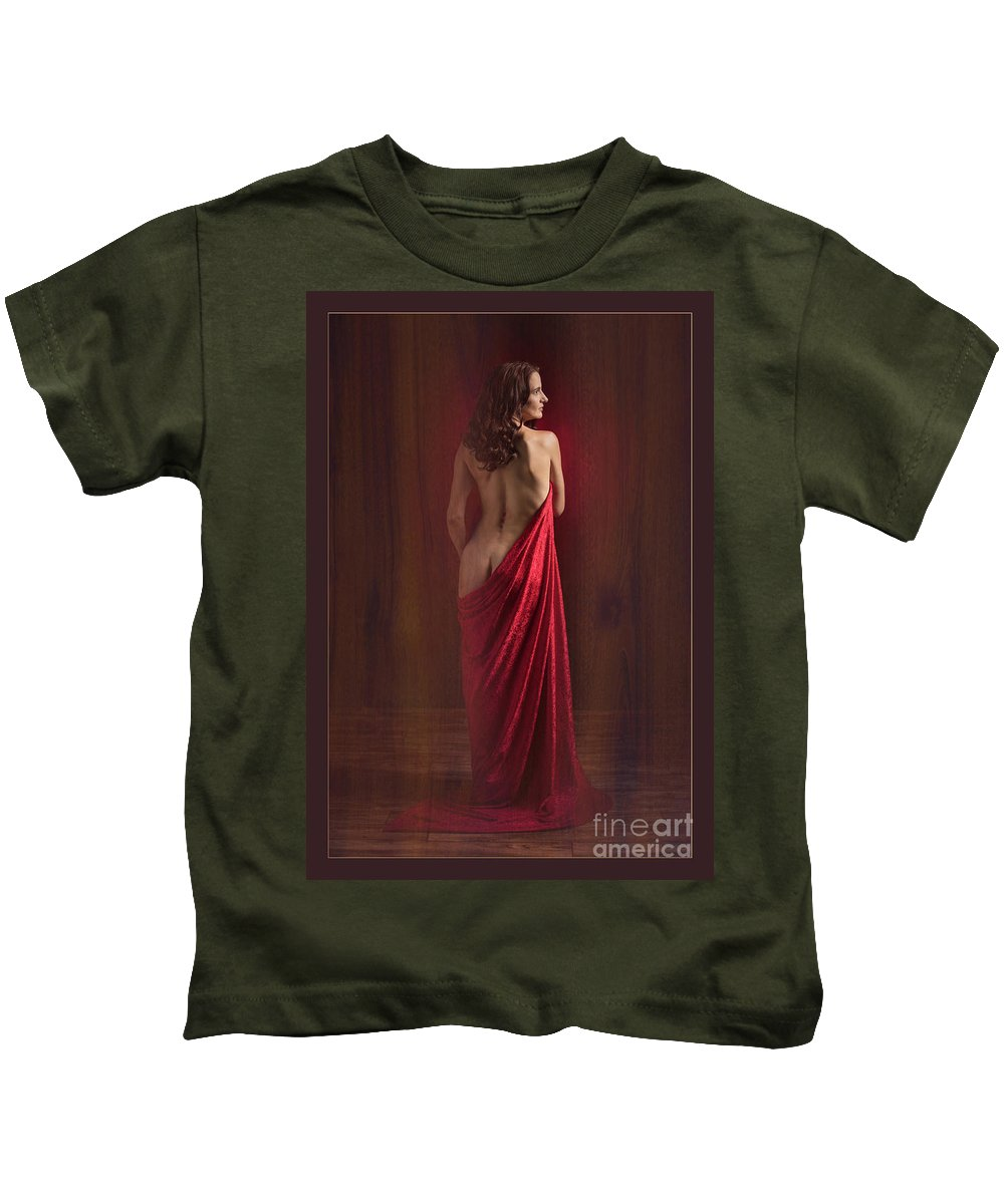 Nude Kids T-Shirt featuring the photograph Nude Young Woman 1718.01 by Kendree Miller