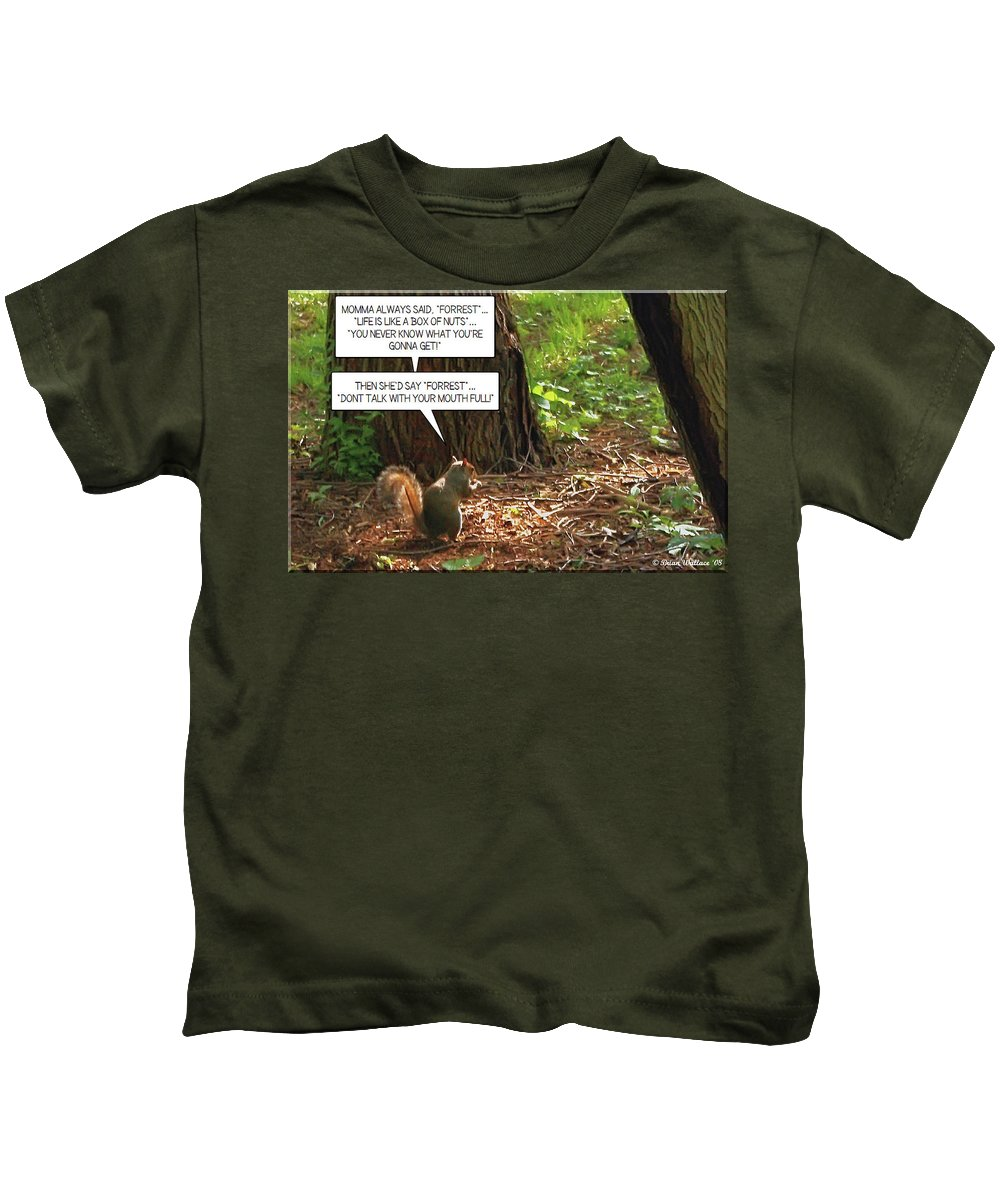 2d Kids T-Shirt featuring the photograph Nuts by Brian Wallace