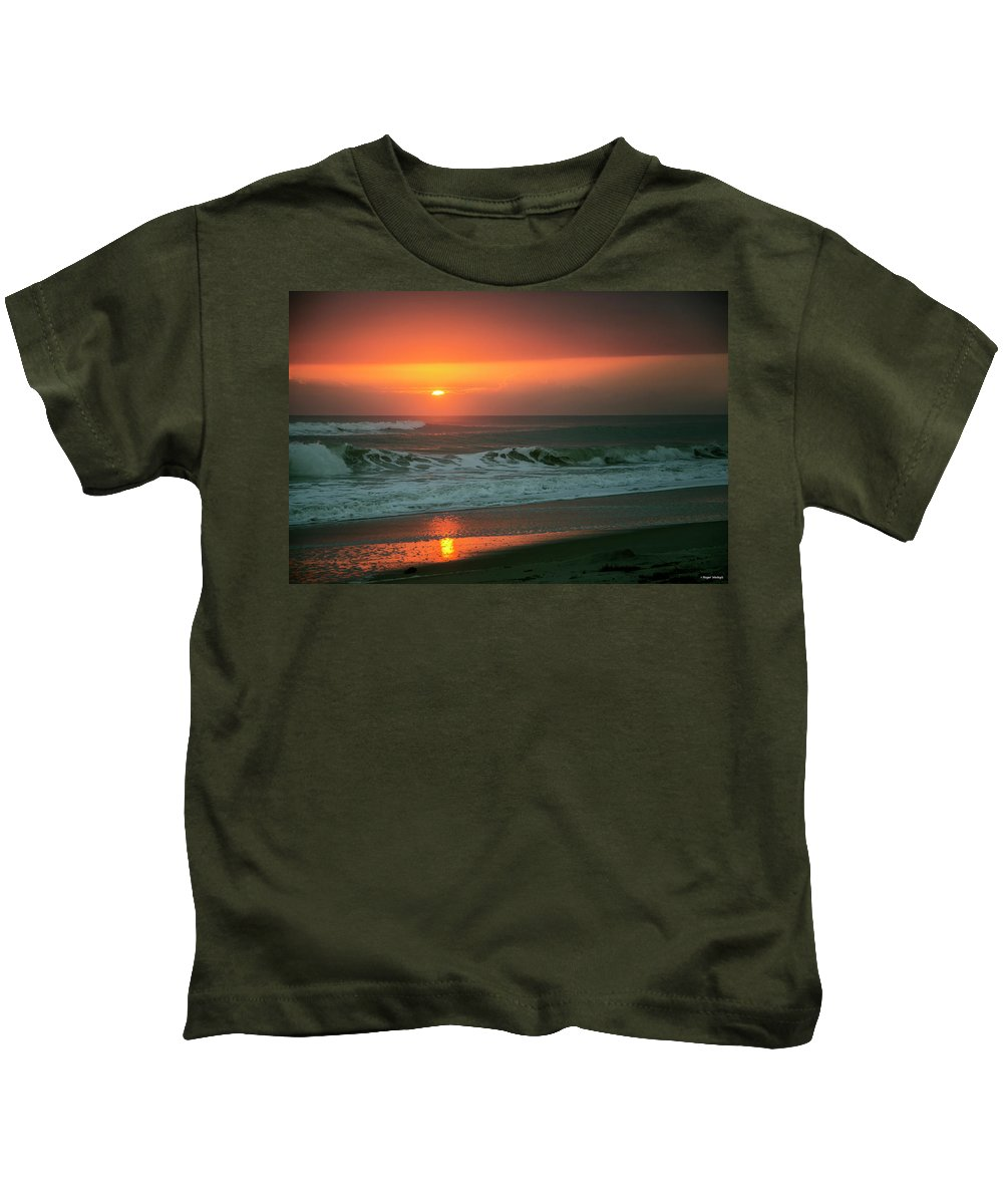 Ocean Kids T-Shirt featuring the photograph Ocean Beach Sunrise by Roger Wedegis