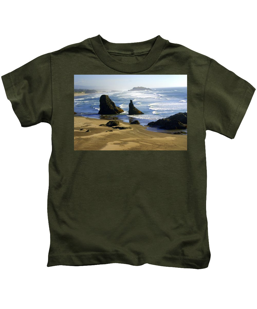 Beach Kids T-Shirt featuring the photograph Oceanscape by Marty Koch