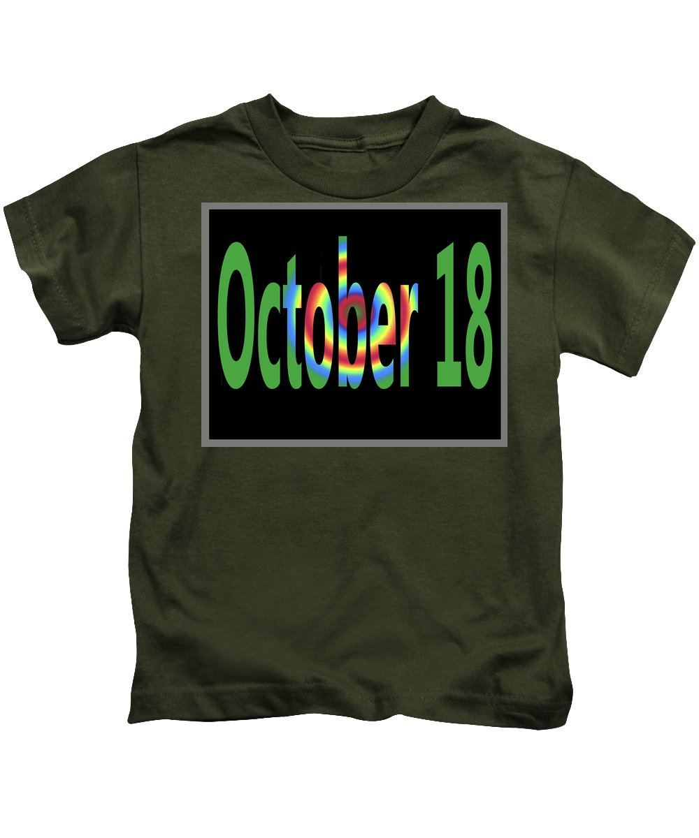 October Kids T-Shirt featuring the digital art October 18 by Day Williams