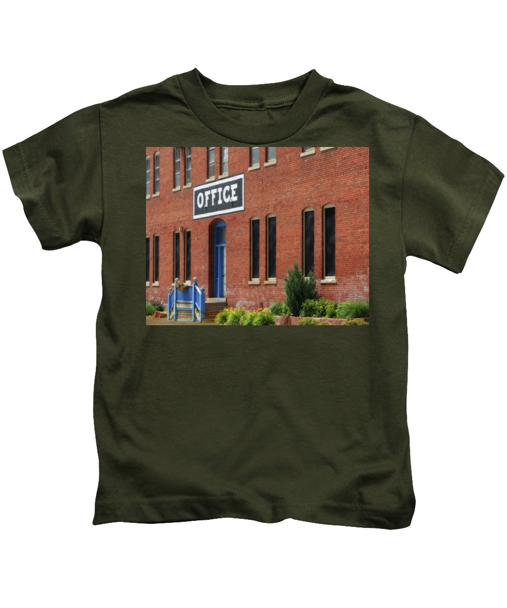 Office Kids T-Shirt featuring the photograph Office #2 by Nikolyn McDonald