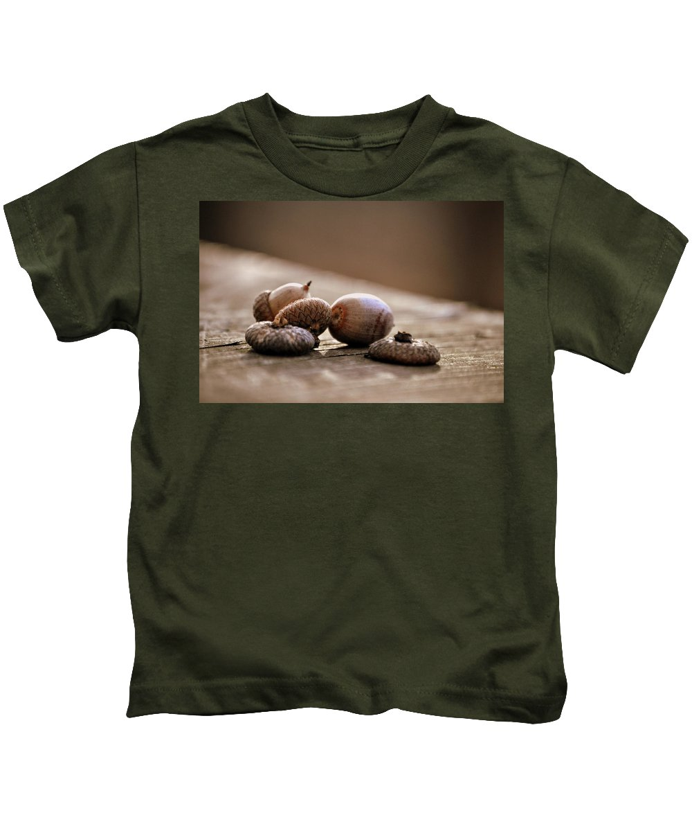 Walnuts Kids T-Shirt featuring the photograph Oh Nuts by Trish Tritz