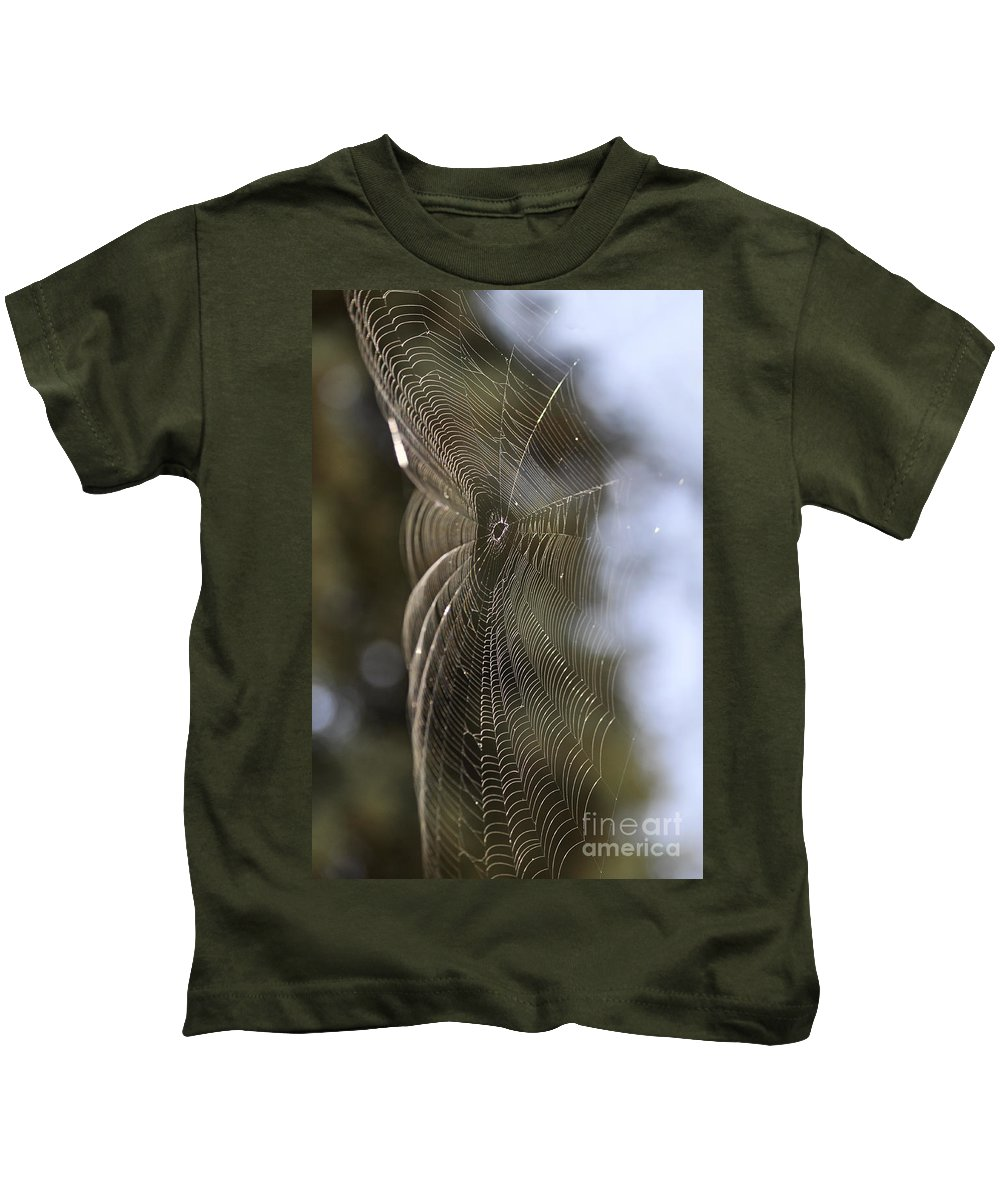 Clay Kids T-Shirt featuring the photograph Oh What Webs We Weave by Clayton Bruster