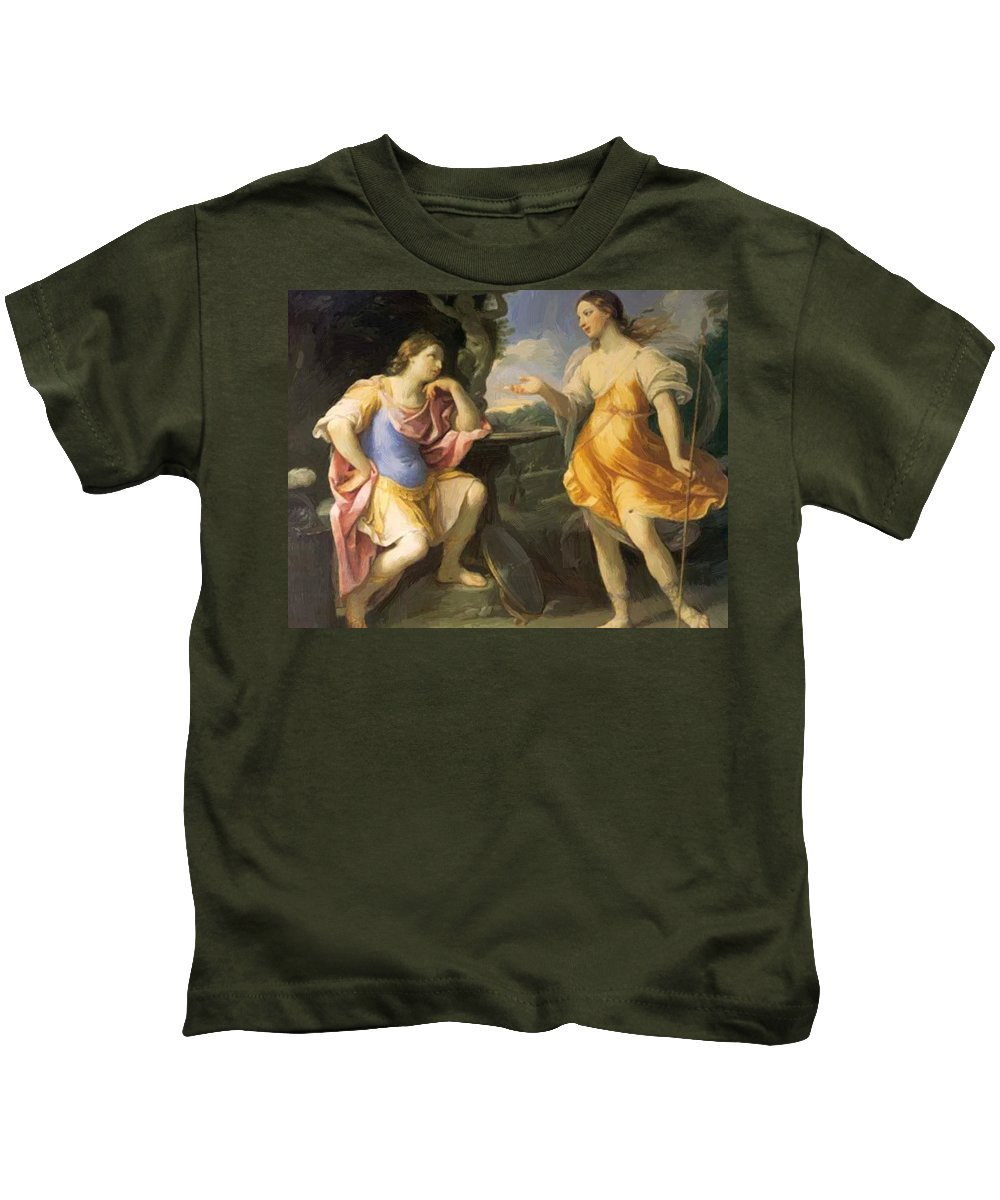 Oil Kids T-Shirt featuring the painting Oil Painting by Reni Guido