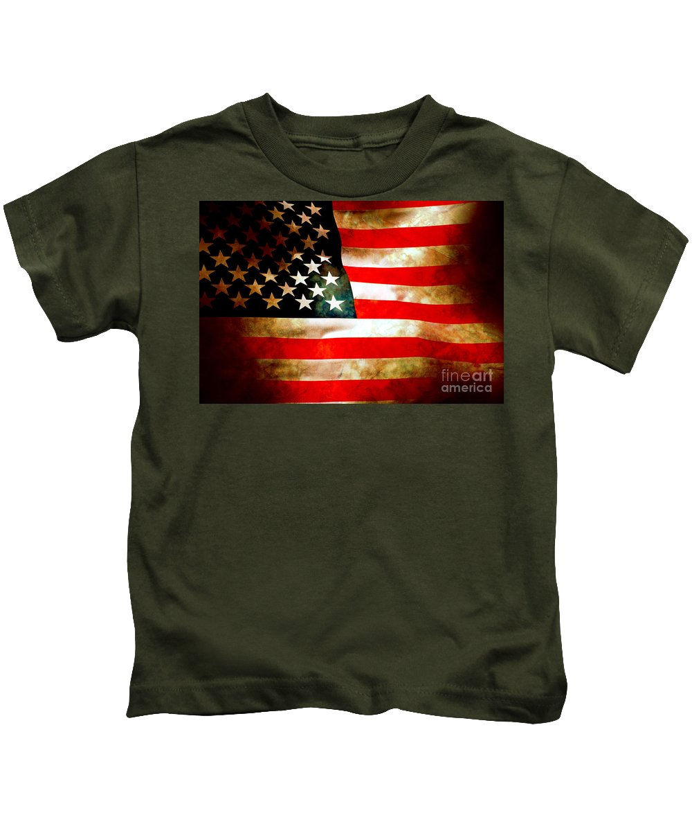 Flag Kids T-Shirt featuring the photograph Old Glory Patriot Flag by Phill Petrovic