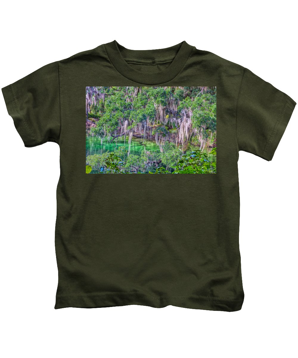 Landscape Kids T-Shirt featuring the photograph Old Growth by John M Bailey