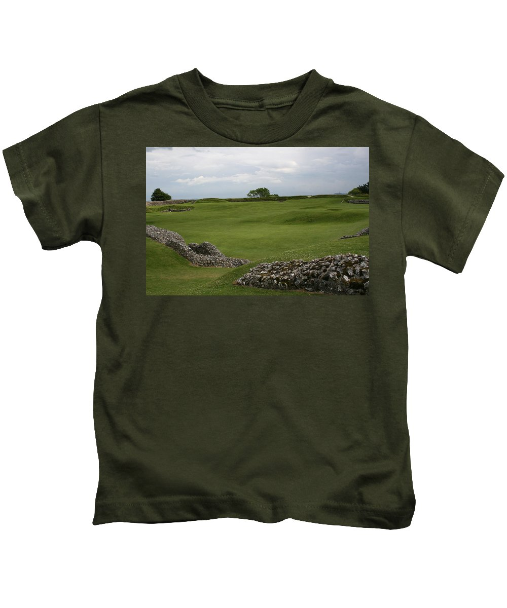 Old Kids T-Shirt featuring the photograph Old Sarum by Mary Mikawoz