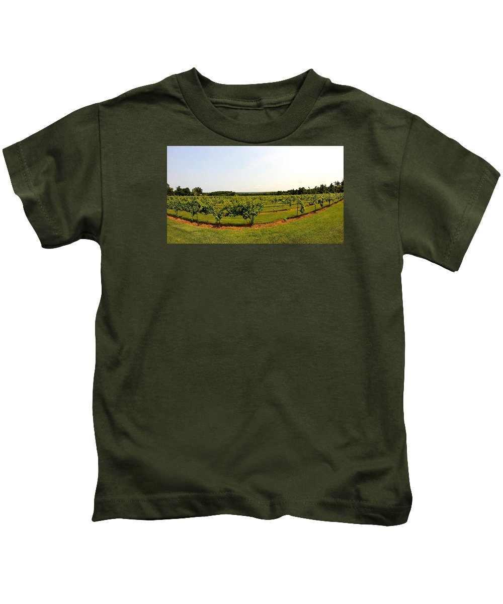 Winery Kids T-Shirt featuring the photograph Old York Winery by Brian Manfra