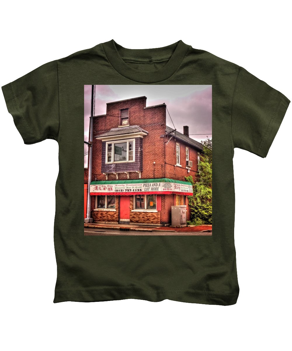Joliet Kids T-Shirt featuring the photograph Olde Keg by Fred Hahn