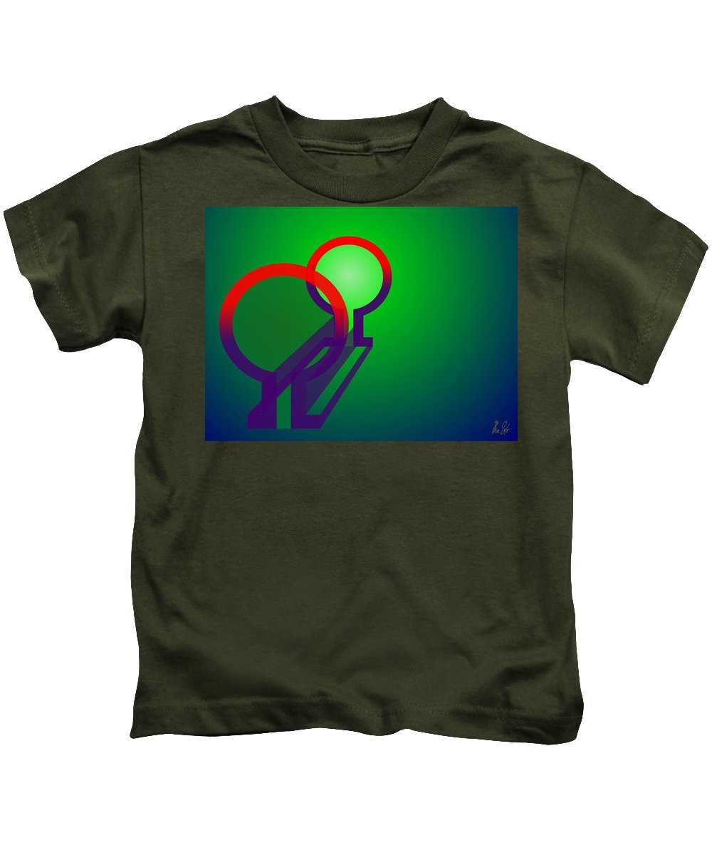 Omega Kids T-Shirt featuring the digital art Omega Xfers by Helmut Rottler