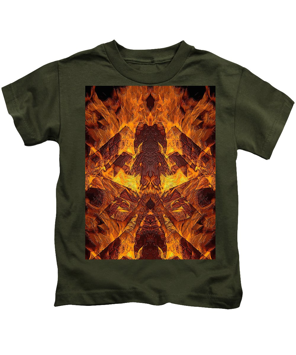 Art Kids T-Shirt featuring the photograph On Fire by Mark Sellers