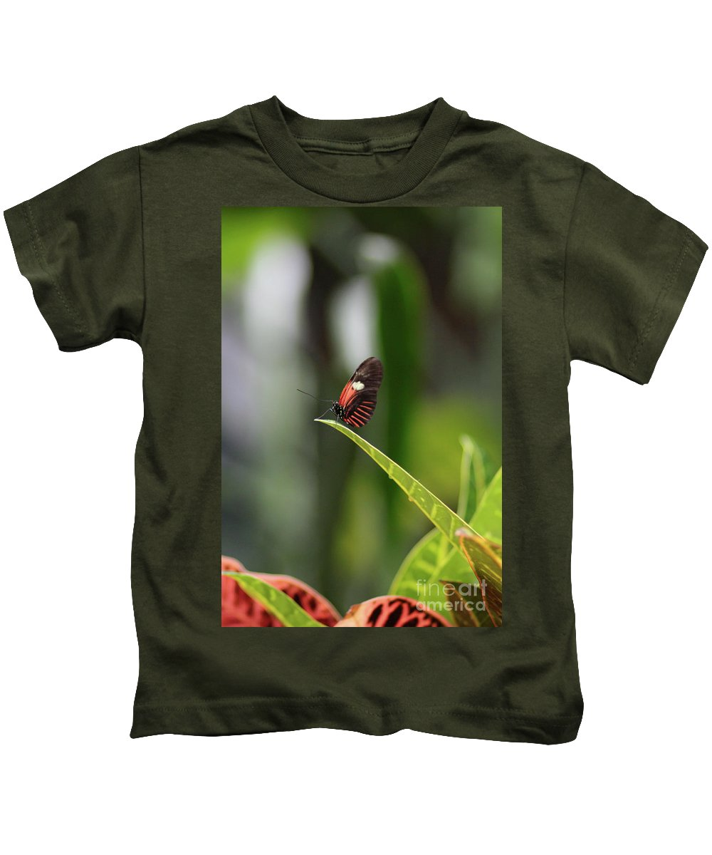 Butterfly Kids T-Shirt featuring the photograph On The Edge by Robert Pearson
