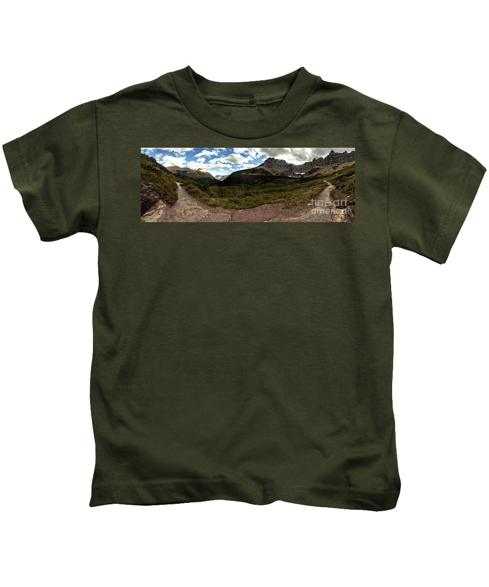 Kids T-Shirt featuring the photograph On The Way To Iceberg - Panorama by Adam Jewell