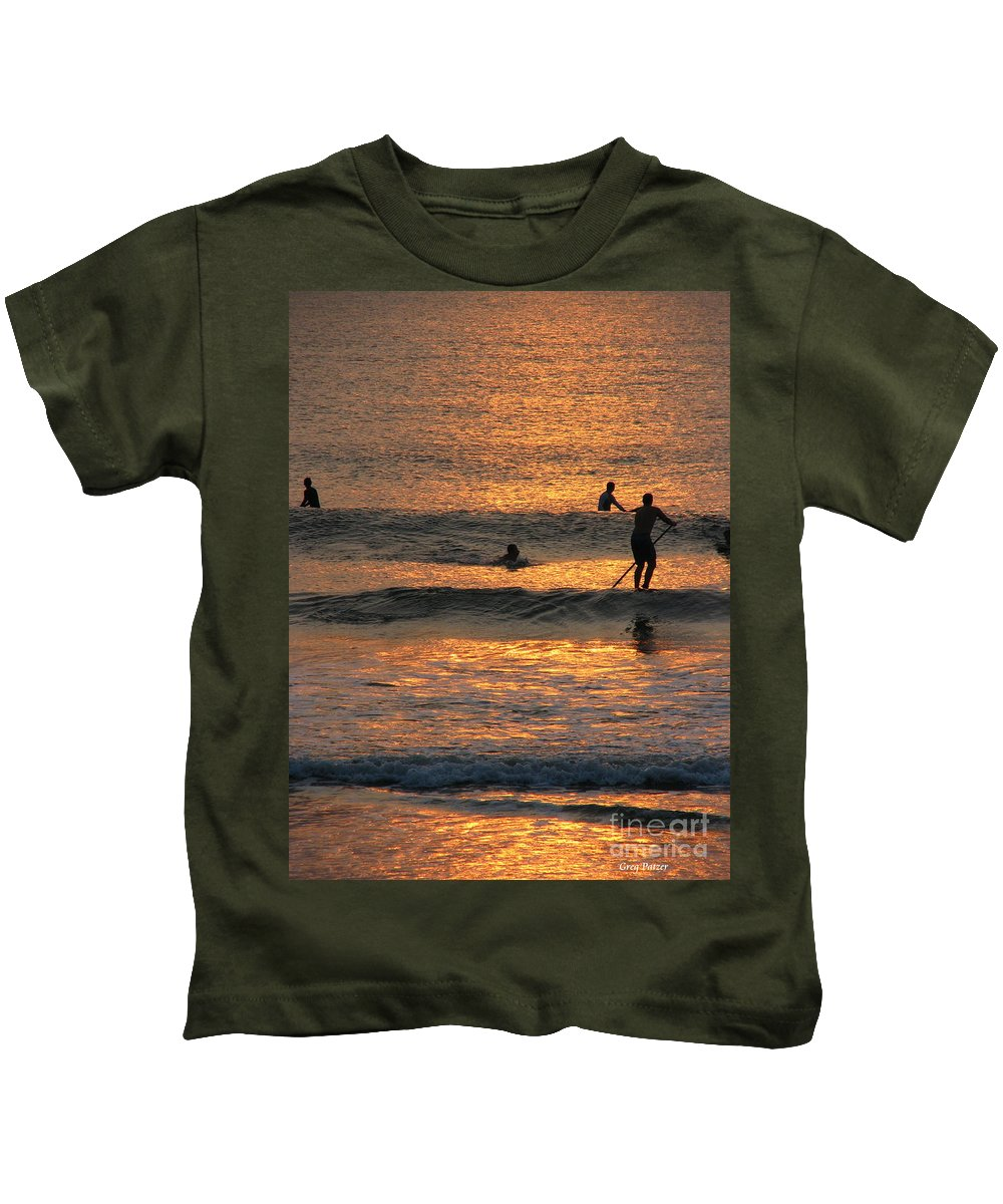 Art For The Wall...patzer Photography Kids T-Shirt featuring the photograph One With Nature by Greg Patzer