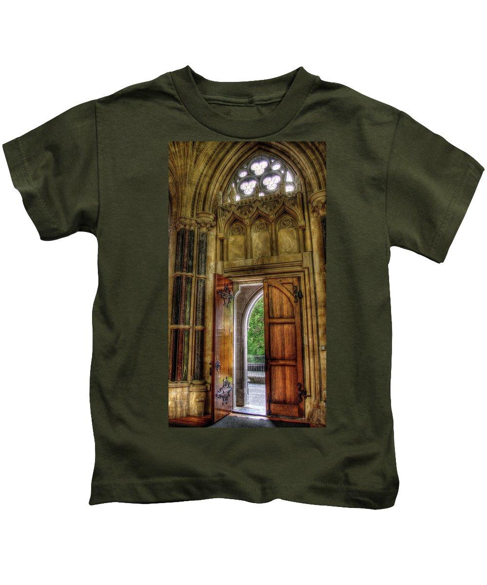 Doors Kids T-Shirt featuring the photograph Open Doors by Rebekah Shennan