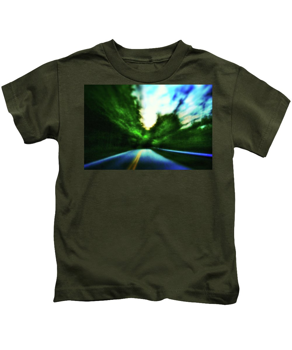 Pinhole Kids T-Shirt featuring the photograph Open Road by Al Harden