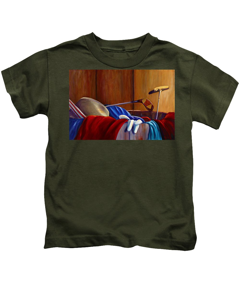 Still Life Kids T-Shirt featuring the painting Opur's Blade by Shannon Grissom