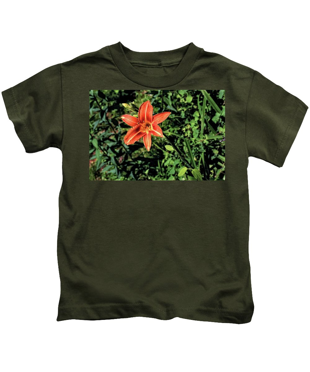 Flower Kids T-Shirt featuring the photograph Orange Day Lily 1 by John Trommer