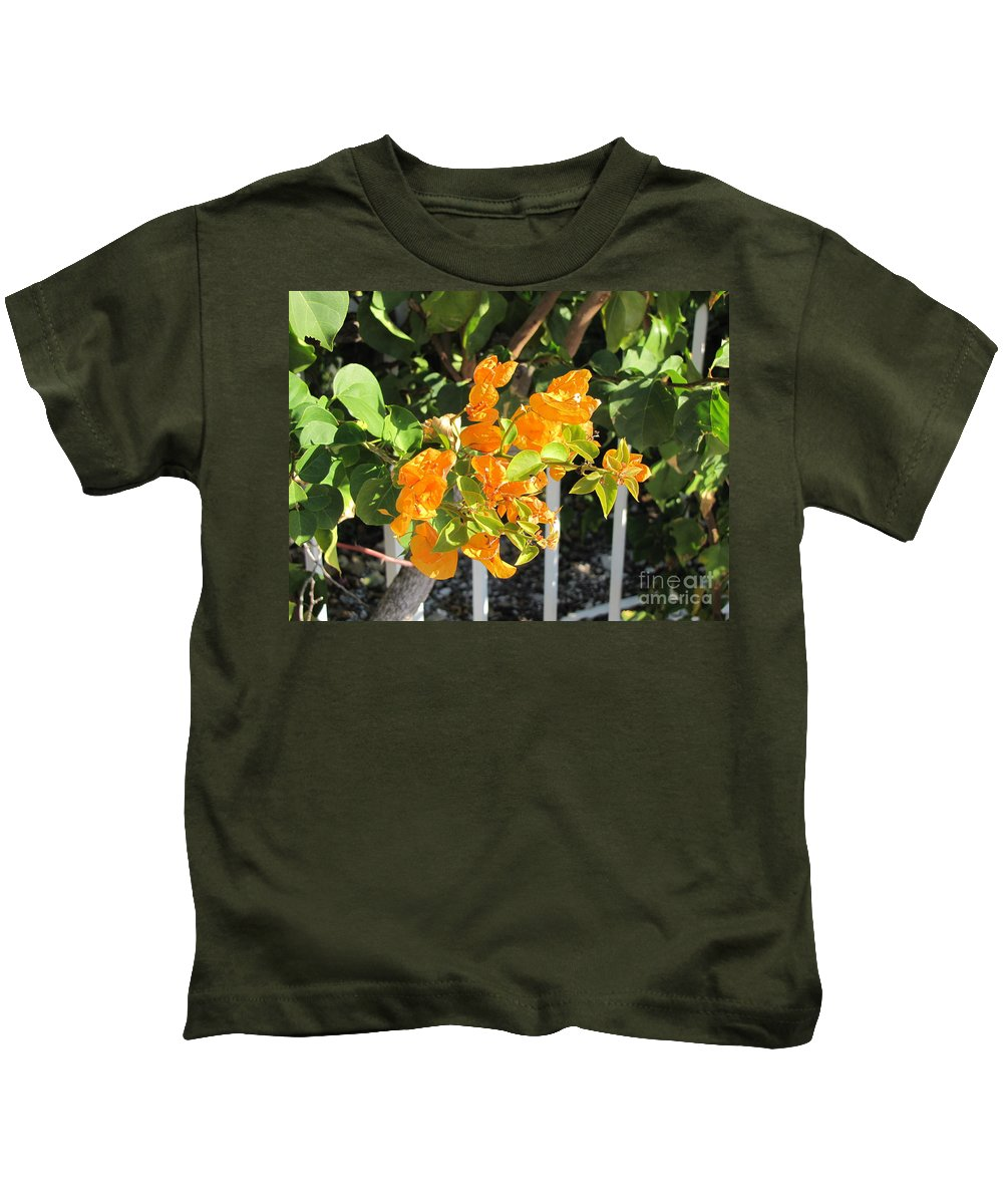 Flowers Kids T-Shirt featuring the photograph Orange Flower by Michelle Powell