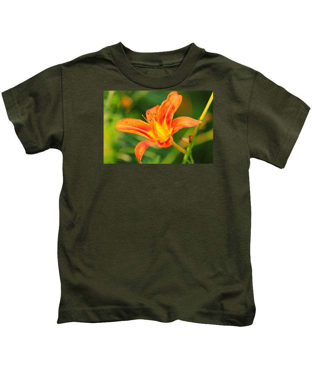 Orange Kids T-Shirt featuring the photograph Orange Lily by Brian Manfra