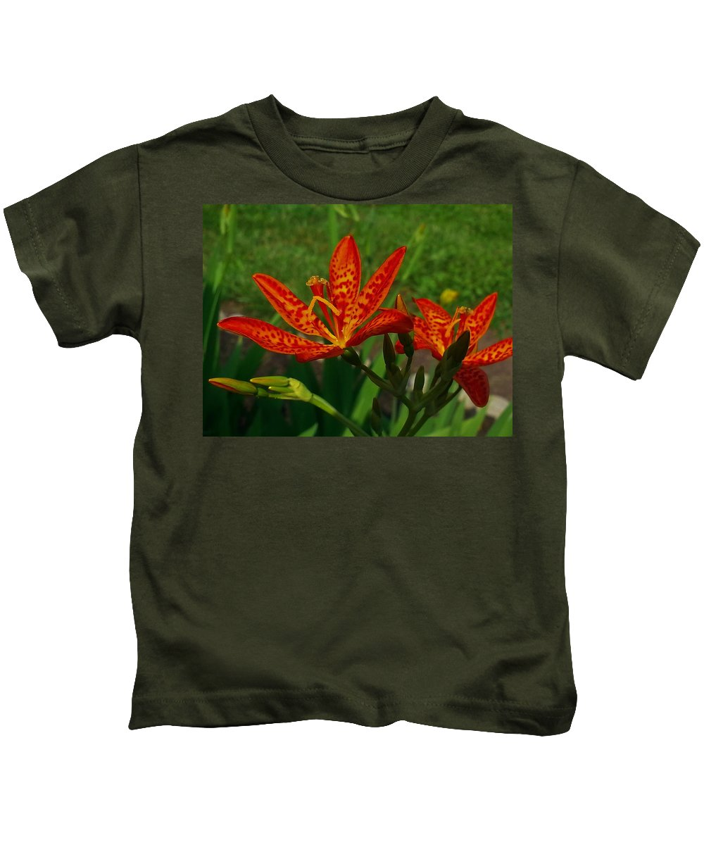Lily Kids T-Shirt featuring the photograph Orange Tiger Lily by Shelly Dixon