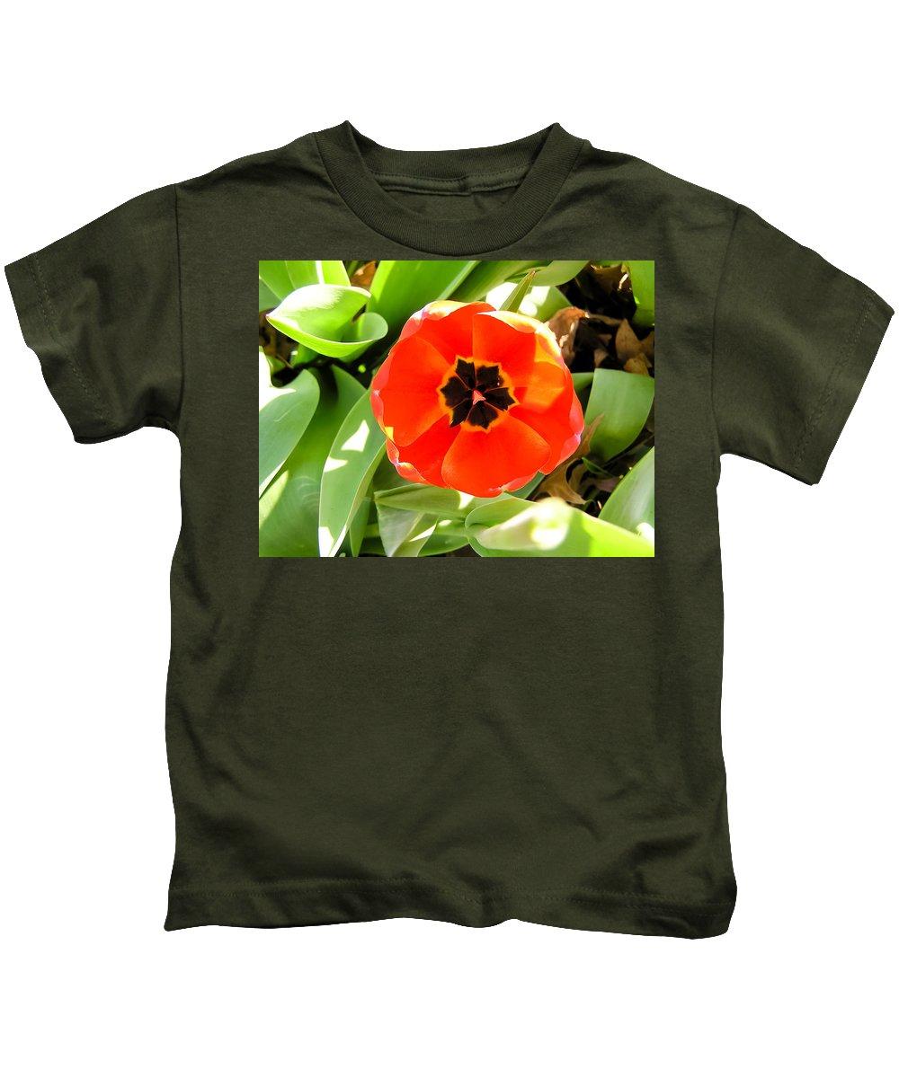 Orange Tulip Kids T-Shirt featuring the photograph Orange Tulip by Cynthia Woods