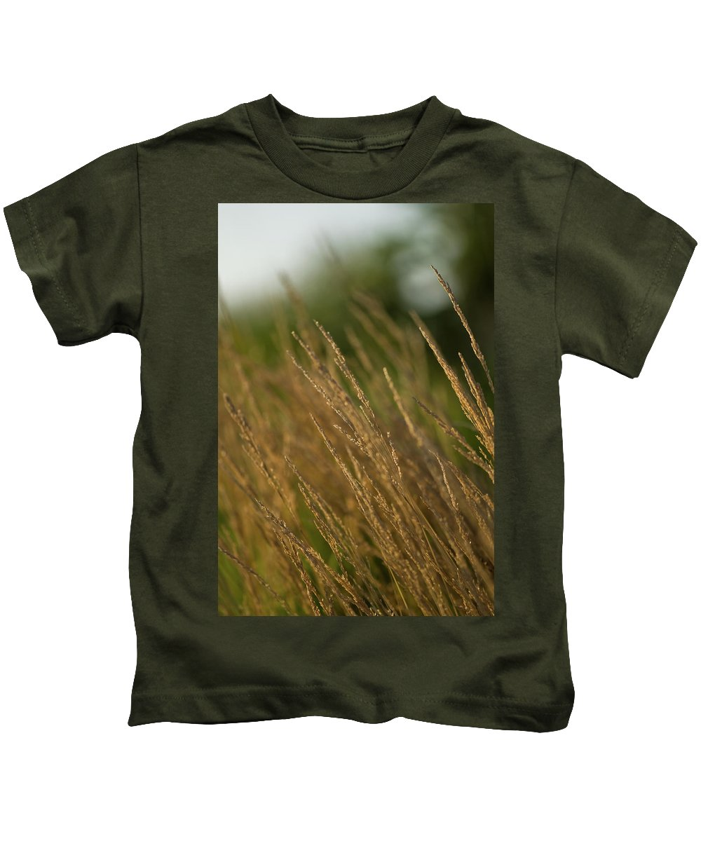 ornamental Grass Kids T-Shirt featuring the photograph Ornamental Naturally by Paul Mangold