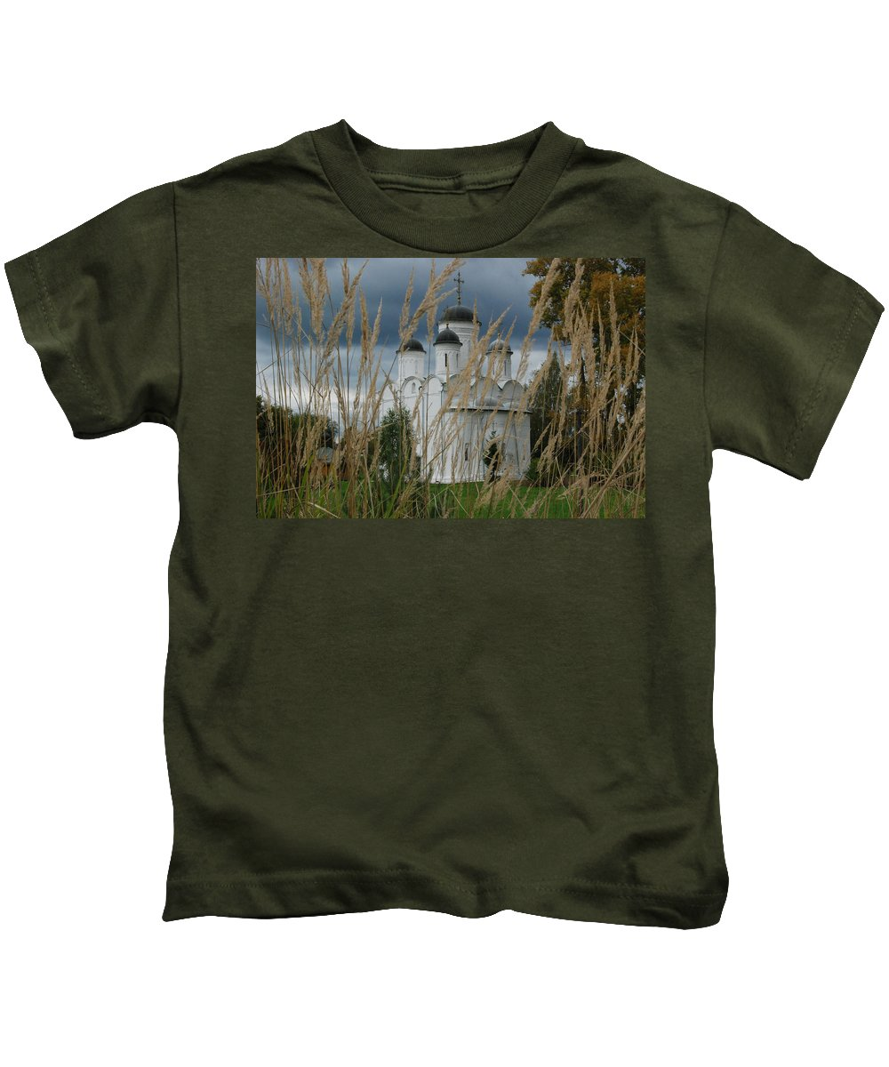 Antiquities Kids T-Shirt featuring the photograph Orthodox Church In Mikulino by Sergei Dolgov