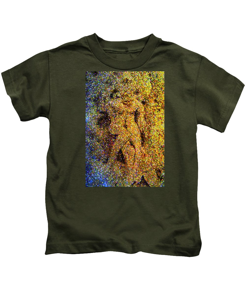 Abstract Kids T-Shirt featuring the digital art Out Of Eden by Dave Martsolf