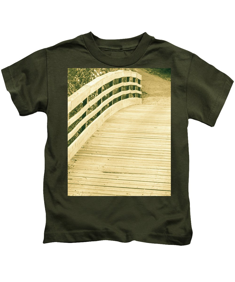 Outdoor Kids T-Shirt featuring the photograph Over The Bridge by Lori Lynn Sadelack