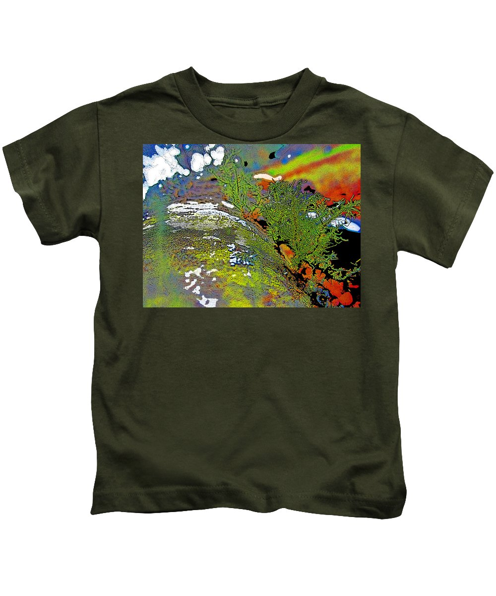 Abstract Kids T-Shirt featuring the photograph Over The Edge by Shirley Sykes Bracken