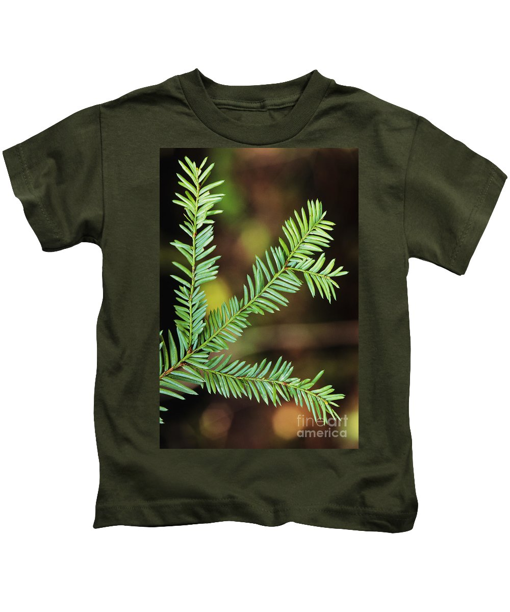 Beautiful Kids T-Shirt featuring the photograph Pacific Yew by Greg Vaughn - Printscapes