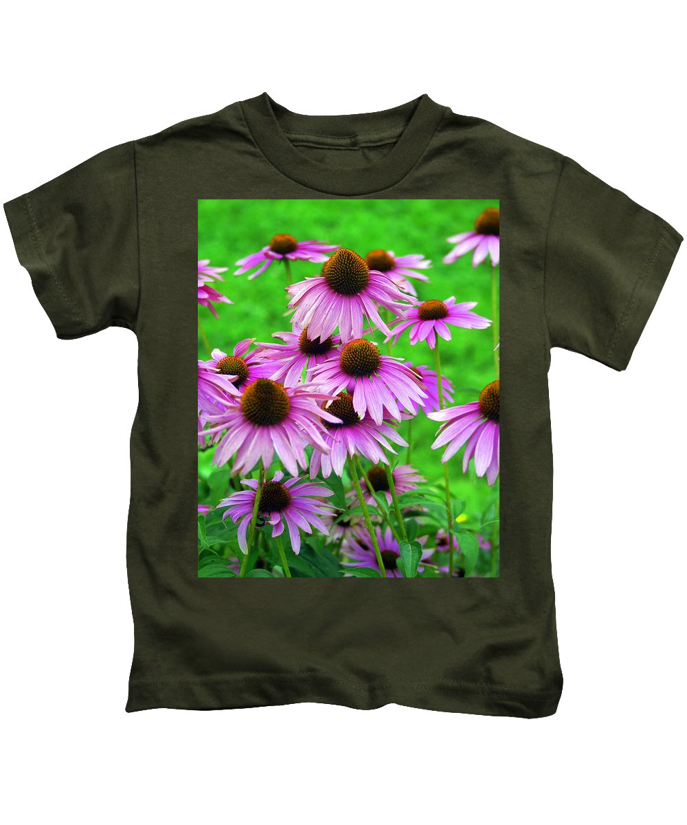 Flowers Kids T-Shirt featuring the photograph Pale Purple Coneflowers by Marty Koch