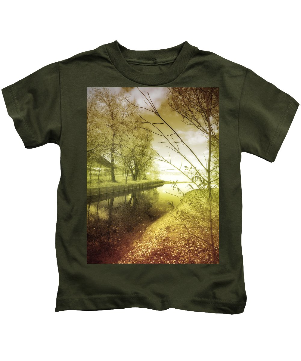 River Kids T-Shirt featuring the photograph Pale Reflections Of Life by Tara Turner