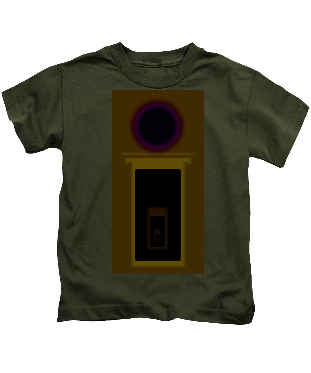Palladian Kids T-Shirt featuring the painting Palladian Ochre by Charles Stuart