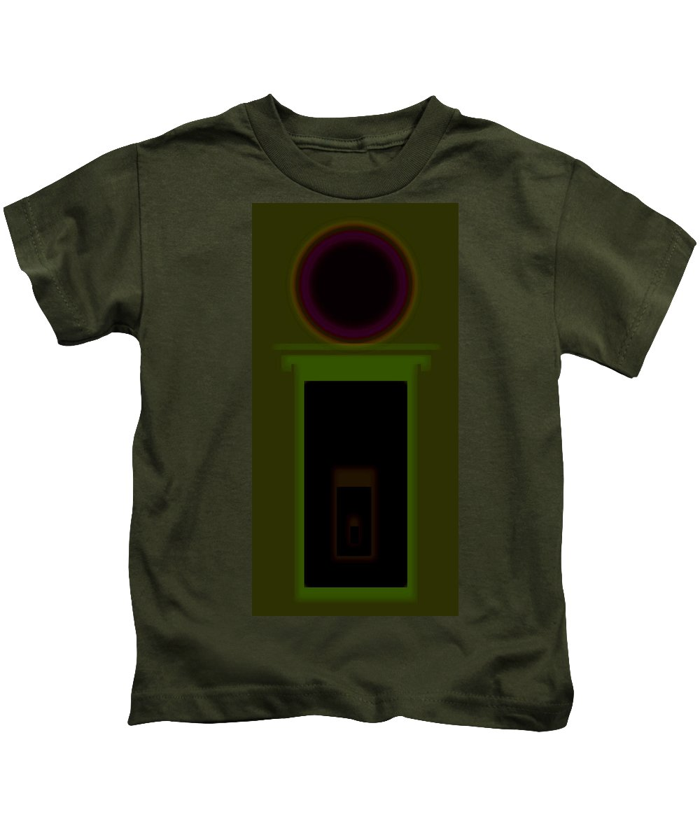 Palladian Kids T-Shirt featuring the painting Palladian Olive by Charles Stuart