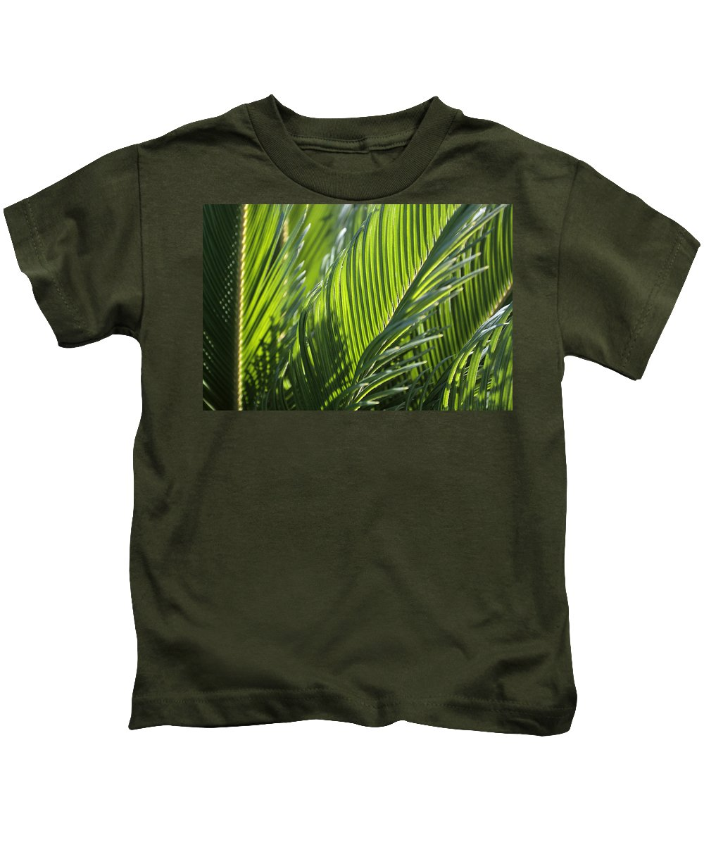 Palm Kids T-Shirt featuring the photograph Palm Leaf by Phil Crean