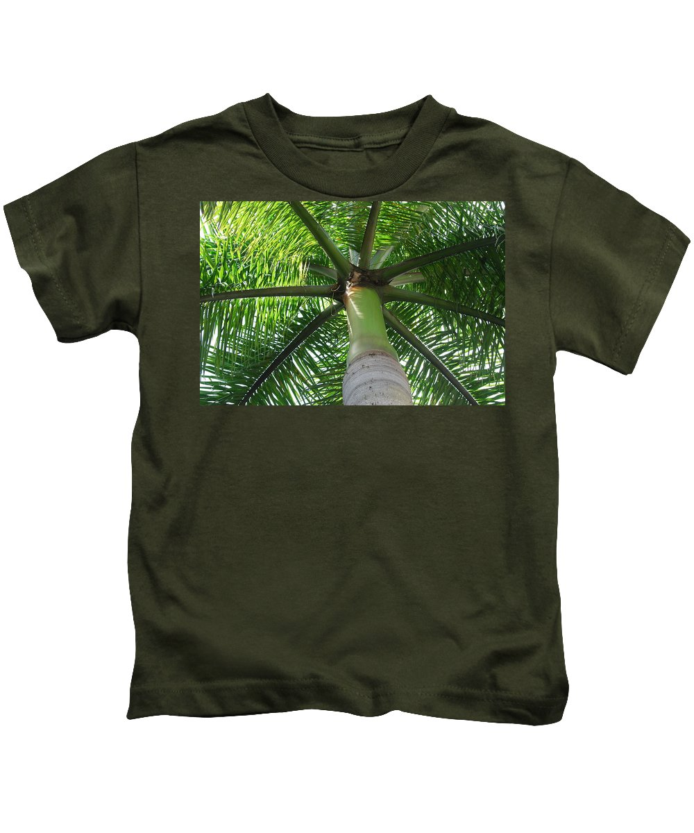Macro Kids T-Shirt featuring the photograph Palm Unbrella by Rob Hans