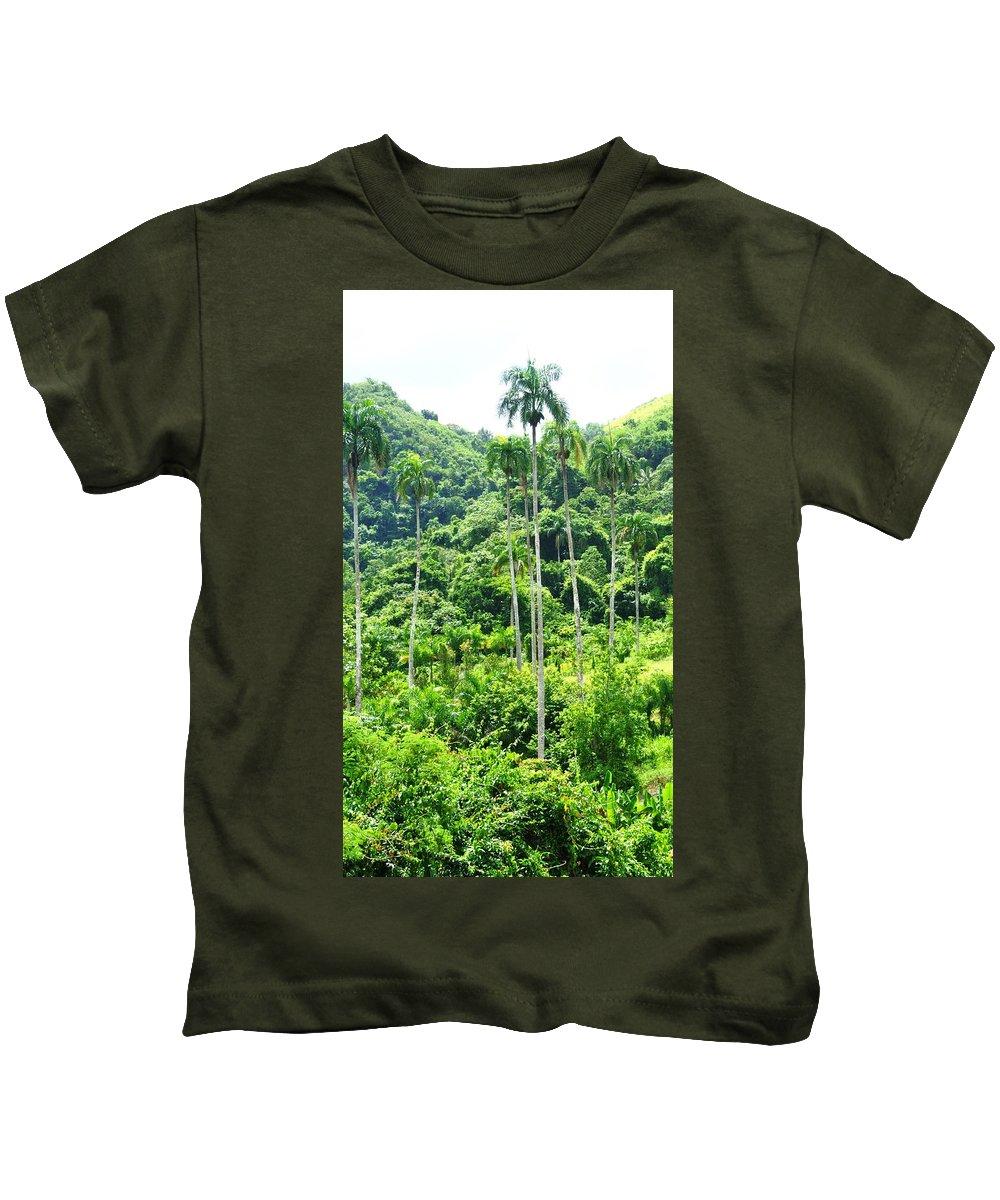Palmas Kids T-Shirt featuring the photograph Palmas En Caonillas by Mayra Martinez