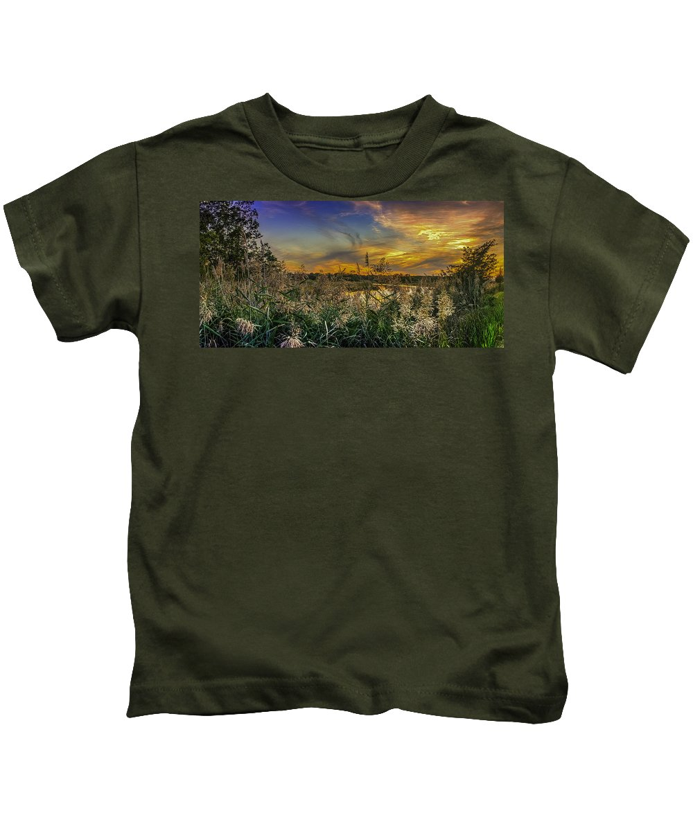 Landscape Kids T-Shirt featuring the photograph Palmer River At Sunset by Raymond J Deuso
