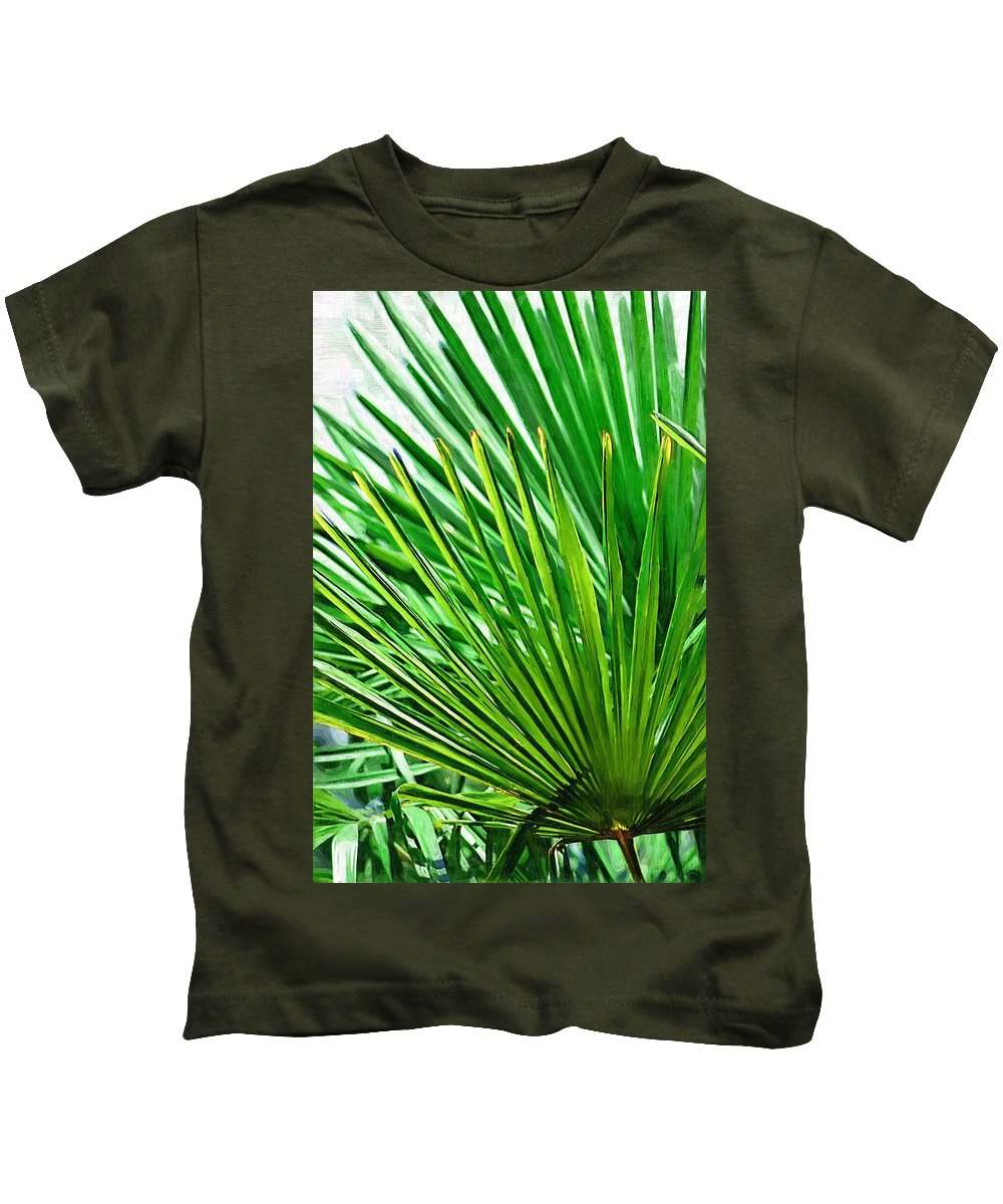 Palms Kids T-Shirt featuring the photograph Palms 2 by Donna Bentley