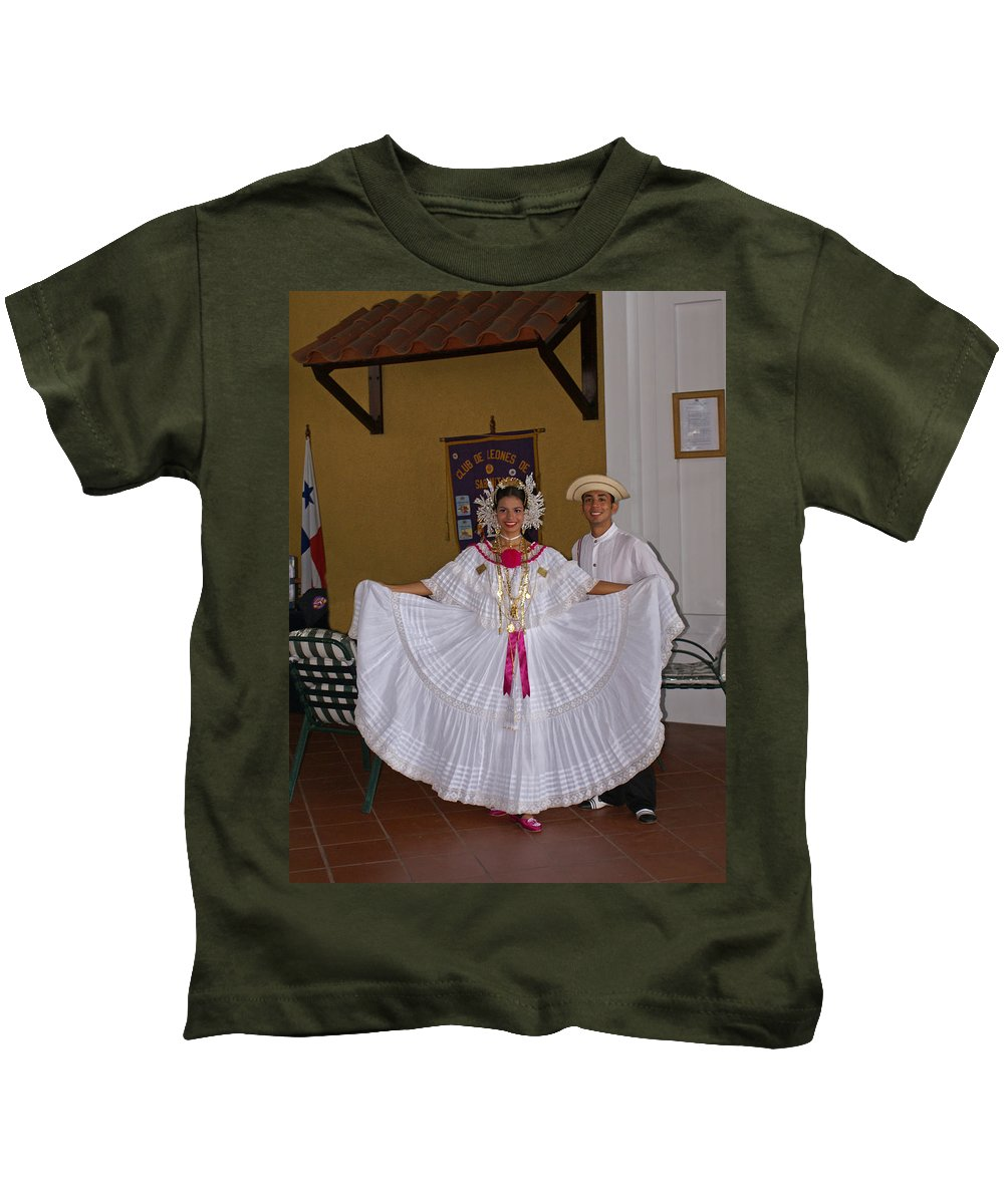 Greeters Kids T-Shirt featuring the photograph Panama Greetings by Heather Coen