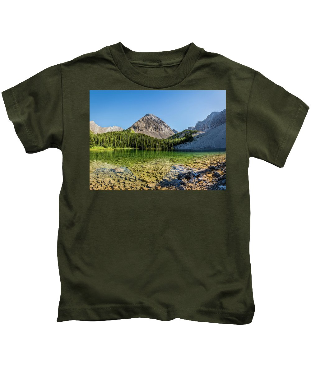 Canada Kids T-Shirt featuring the photograph Panoramic View Of Chester Lake by Yves Gagnon