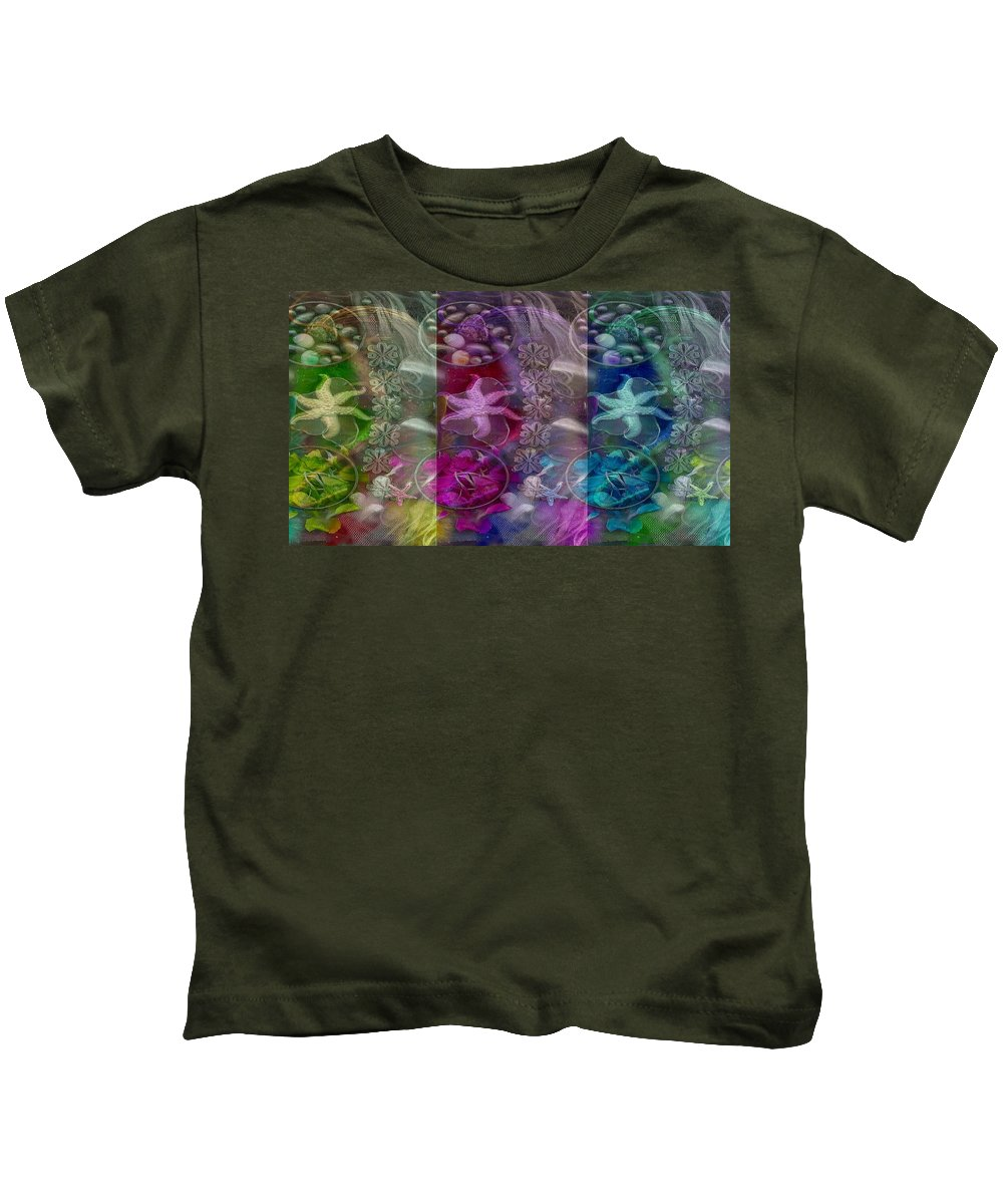 Abstract  Kids T-Shirt featuring the mixed media Paradise Popart by Pepita Selles